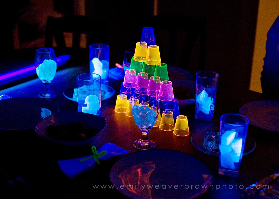 the gallery for black light party decorations. Black Bedroom Furniture Sets. Home Design Ideas